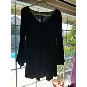 Black Bell Sleeve Express Dress